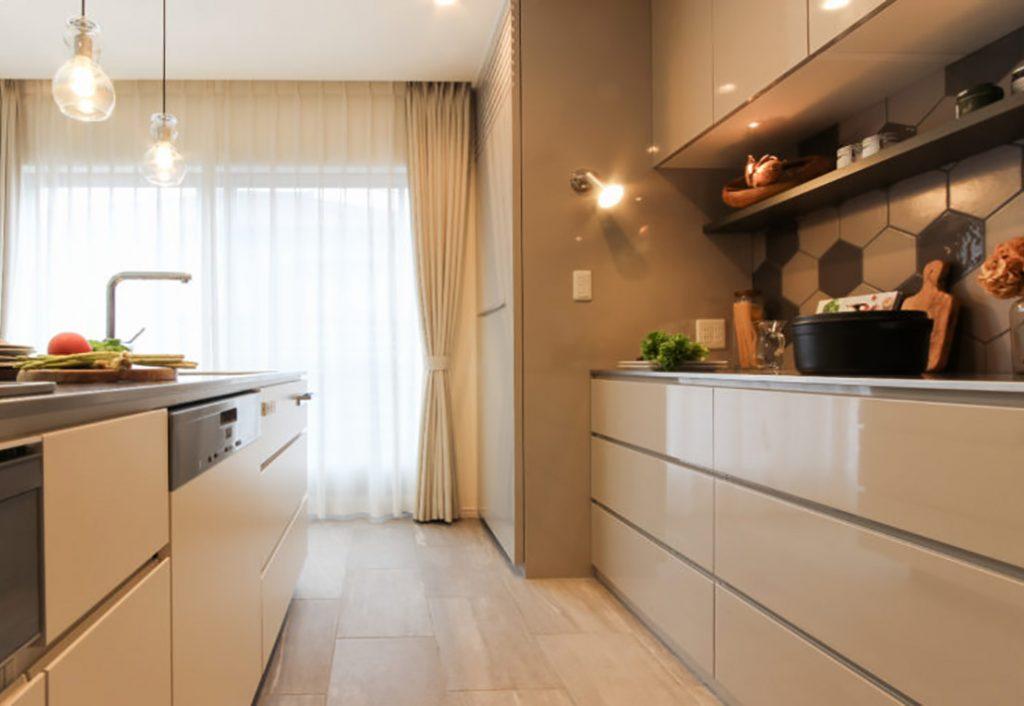 オーダーオリジナルキッチン034カフェのようにくつろげる空間…