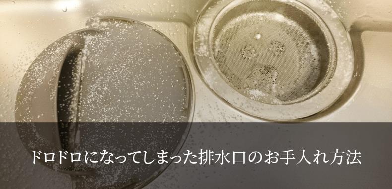 ドロドロになってしまった排水口のお手入れ方法
