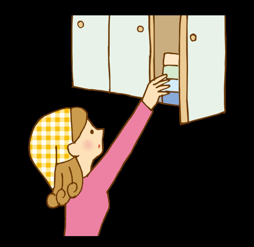 吊り戸棚収納